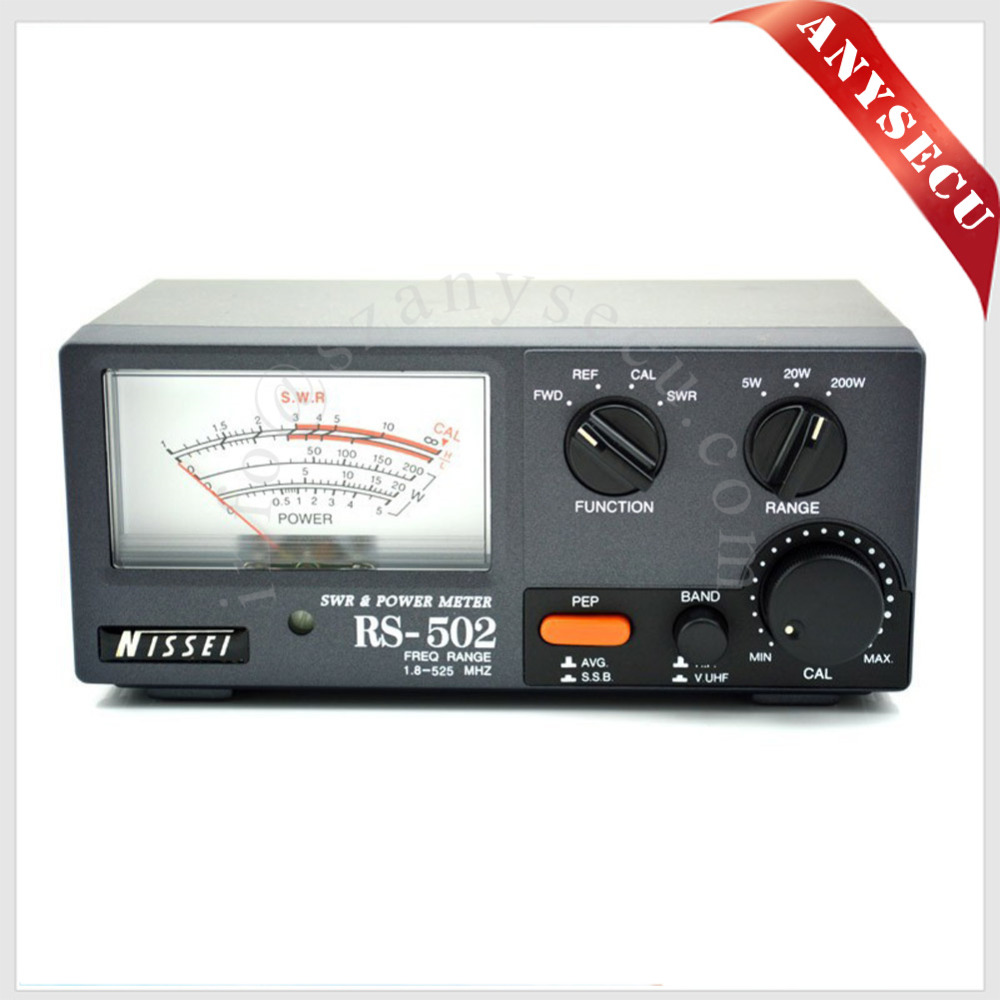 2016 New Launch NISSEI RS-502 SWR/Watt Meter 1.8-525MHz 200W SWR & Watt Metter (M Type Connector) for Walkie talkie