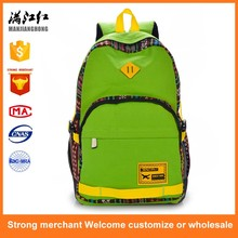 Factory price manjianghong backpack canvas bookbag for children