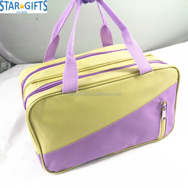 China Factory Fashion Cheap Promotional Wholesale Nylon Large Cosmetic Bags