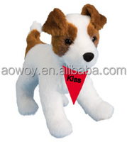 imprinted promotional soft plush stuffed Feisty Jack Russell logo bandana t-shirt toys 31