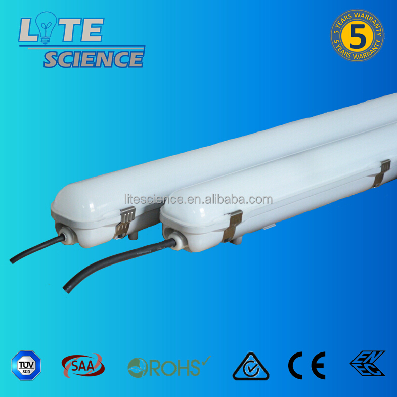 CE SAA IP65 PC housing LED tri-proof light for parking lot