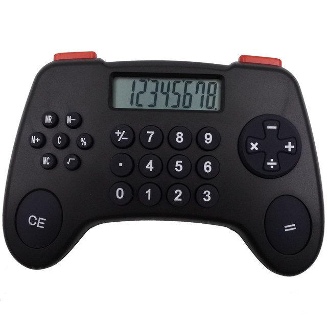 Y-1092 8-digits silicone key funny game handle calculator