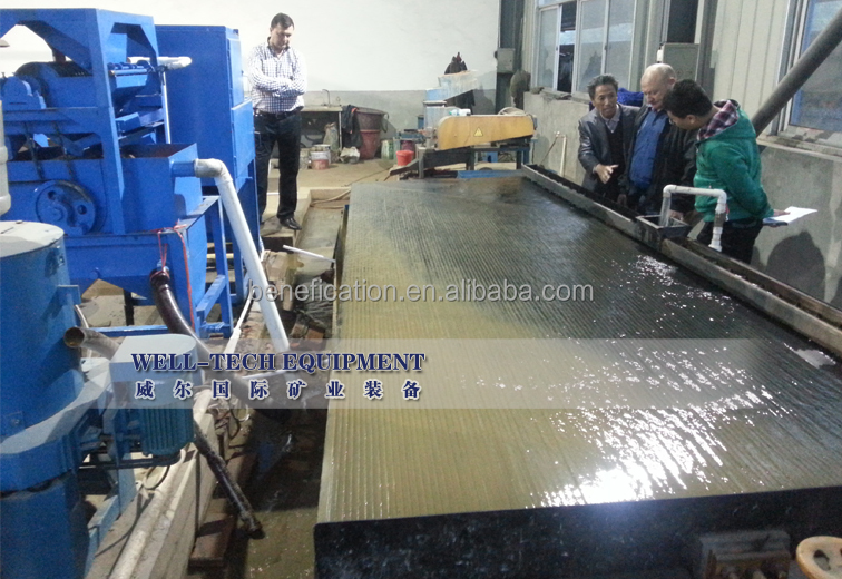 Aluminum separator shaking table concentrator for Aluminum separtion