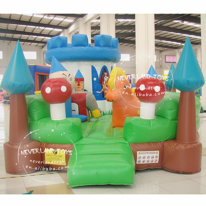 NEVERLAND TOYS Best Quality Hot Selling Cheap Inflatable Princess Bouncer Funny Trampoline Inflatable Fun City For Sale
