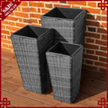 Wholesales plastic rattan planter with planter box