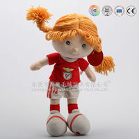 plush doll manufacturer China custom wholesale lovely baby rag doll/ pretty girl plush dolls