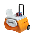 Giwox 28L Plastic Trolly Cooler box with speaker, Beach Cooler Box with Bluetooth Speaker and Power bank with wheels