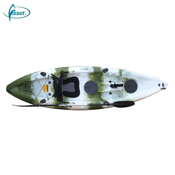 New product oned person single canoe boat fishing kayak with pedals