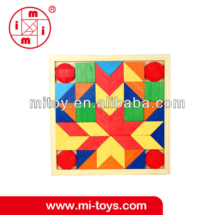 Wooden Rainbow Blocks toys educational from ICTI