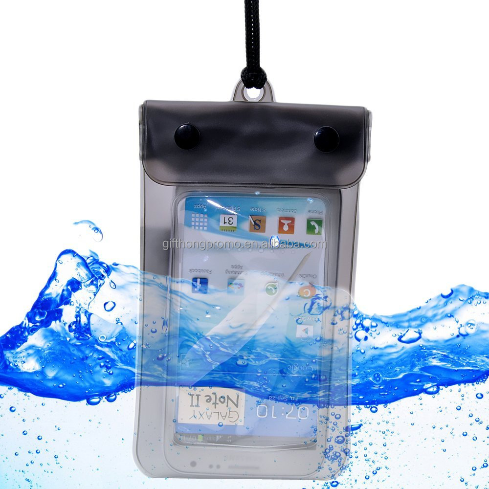 2016 wholesale promotional pvc phone dry bag waterproof for mobile for swimming
