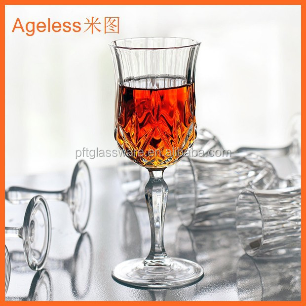 cheap stock crystal red wine glass stock wholesale high quality handmade art colorful table drinking glassware