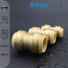 Lead Free Brass Push-Fit Fitting with Repair Coupling, 7/8 x 4...