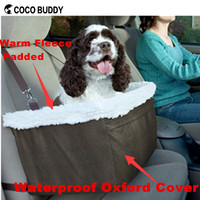 Warm fleece padded dog booster car seat large dog bag carrier with waterproof cover