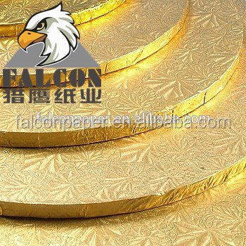 Silver Gold Cake Board double corrugated board food grade paper cake drum cake base board