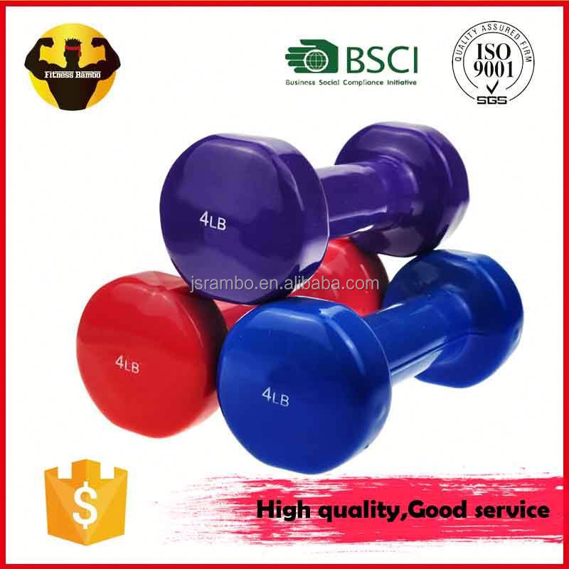 RAMBO Antique Gym Fitness Fashion Round Women Vinyl Mini Dipping Dumbbell