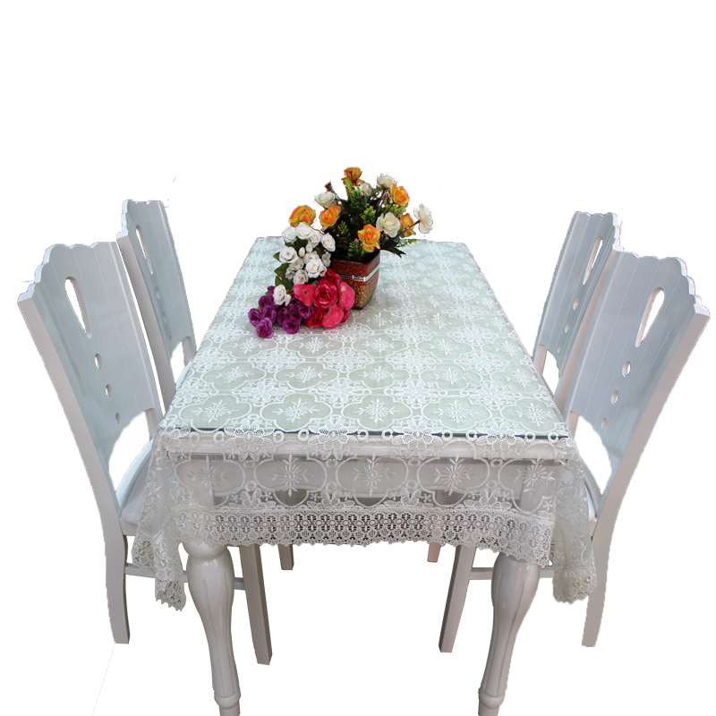 Spandex white organza table cover