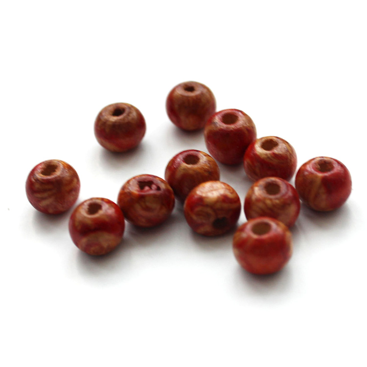 Handmade Round Red Sandal Wood Beads