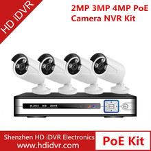 cheap home security camera systems hd 720p ip camera poe h.264 4ch dvr combo cctv camera kit