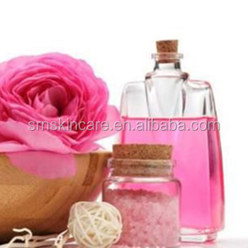 natural high quality transparent white glass bottle rose essencial oil