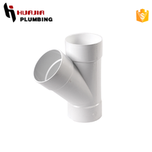 JH0396 y branch pvc pipe fittings pvc fitting 22.5 degree elbow plastic t-junction fitting