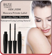 Waterproof Long Lasting Natural Fiber Mascara Lash /3D Fiber lashs Mascara /3d fiber lashes mascara