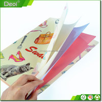 PP PVC Pocket File Plastic Manila Folder With Clips