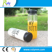 New arrival Costomed plastic bottles , BPA free water bottles with bags
