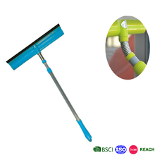 telescopic flexible window sponge cleaning squeegee with anti-rust spring