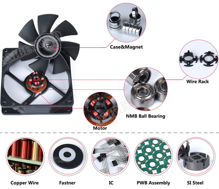 2 Pieces 60mm 5v fan Brushless Exhaust Centrifugal Blower Computer Gdstime C28