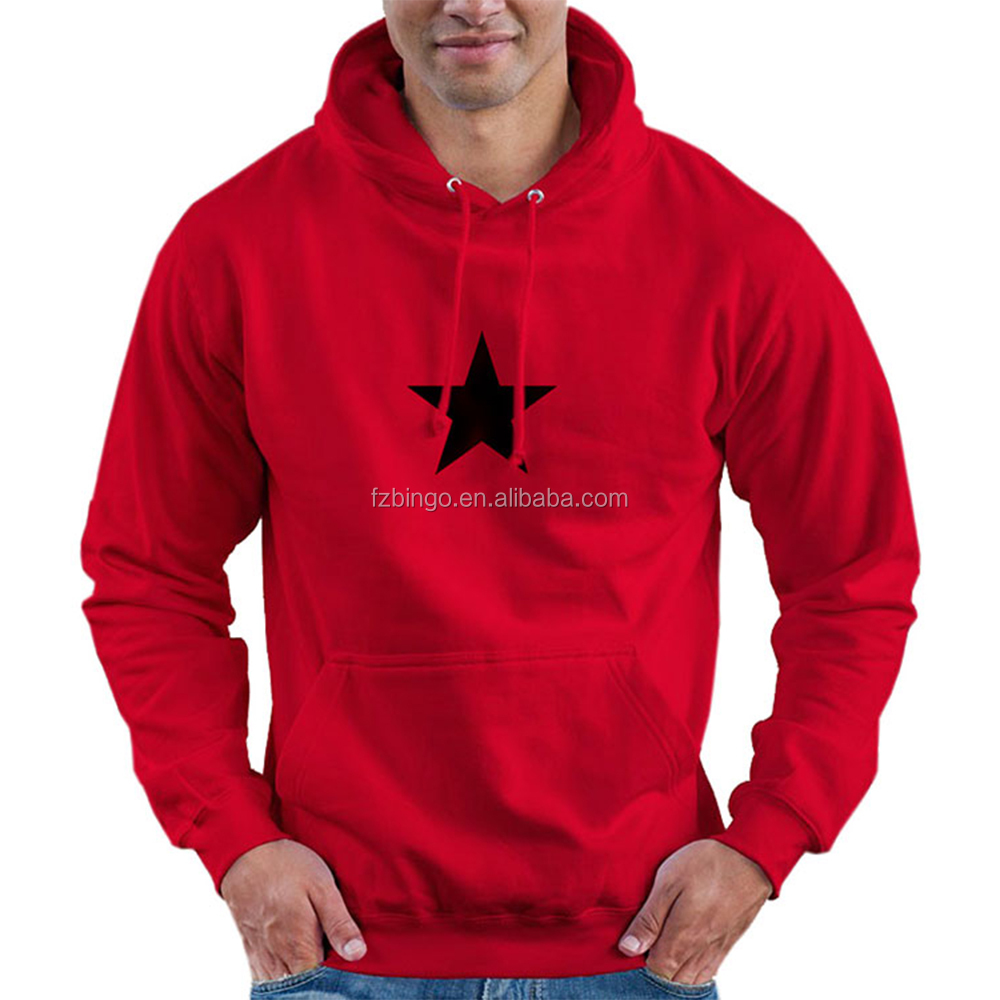 2017 trending products OEM t shirt red color bull box logo hoodie for customer own design