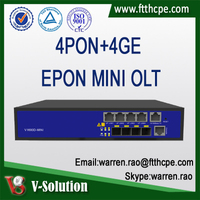 Mini Size 4PON EPON OLT GPON ONT Optic Fiber Networking Equipment Optical Line Terminal for FTTH Solution