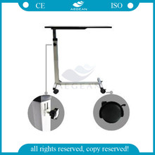 AG-OBT001B Hospital patient bed height adjustable overbed laptop table