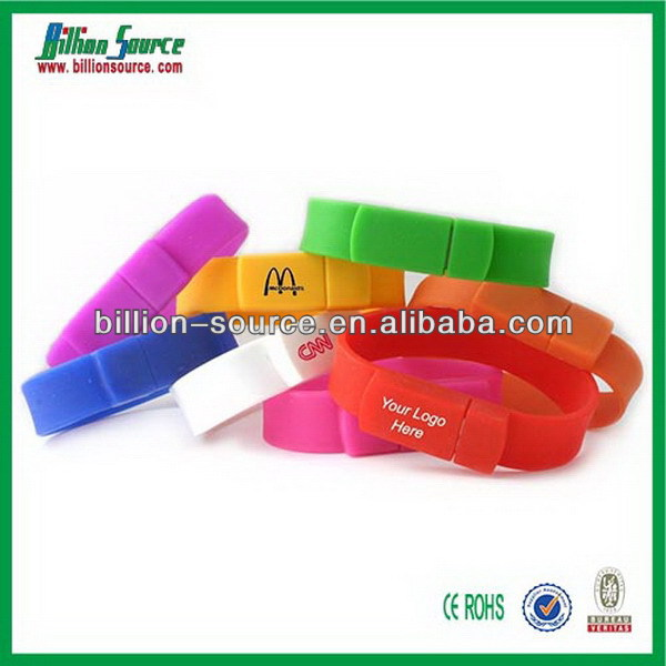 Designer useful customized silicone bracelets usb
