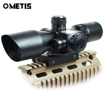 BTC Tactical 2.5-10x40 Rifle Scope with Illuminated Range Finder Reticle and Built-In Red or Green Laser Sight Reflex Picatinny