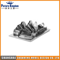 Hot selling Sydney Opera House building model DIY toy metal 3D puzzle