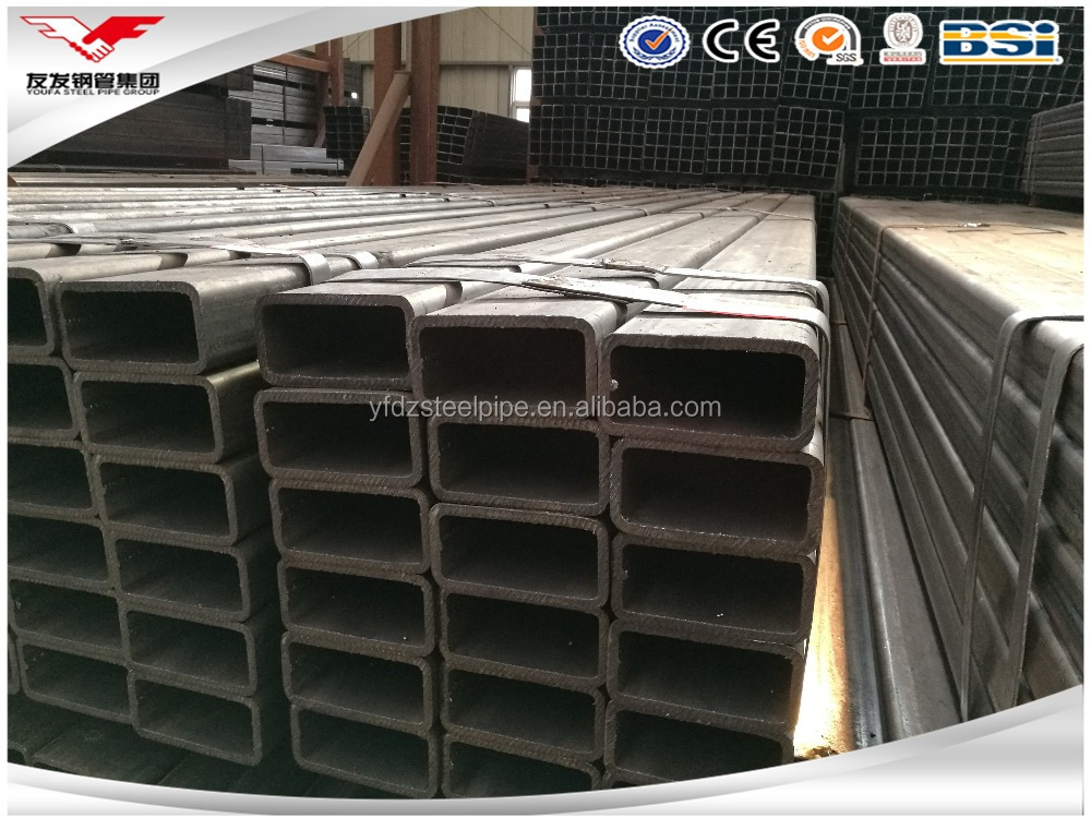 building material hollow tube metal ERW Q345 Q235B ERW black rectangular steel welded pipe dn200