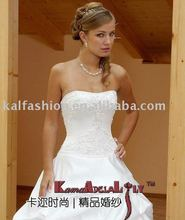 EB8218-3 Sexy corset backless Wedding dress ruffle taffeta wedding gown