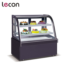 Full Curved Glass Window Automatic Defrost Chocolate Display Showcase
