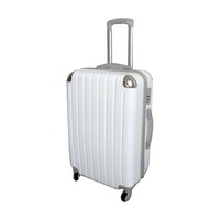 Polyester material 3pcs hard shell luggage cambination lock travel trolley bag 4 spinner wheels travel suitcase