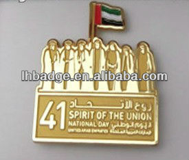 UAE national day magnet lapel pin,United Arab Emirates magnetic pin badge