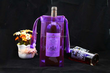 Ice cooler wine / beer PVC stand up plastic bag