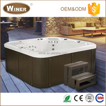 6 people musical outdoor/indoor hot tub acrylic massage and spa With Healing LED Light