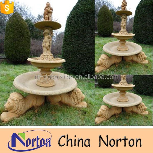 Lion And Boy Modern Art Water Fountain For Garden Decoration NTMF-SA025L