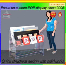 Hot Selling Clear Acrylic Picture Display Rack and Stand