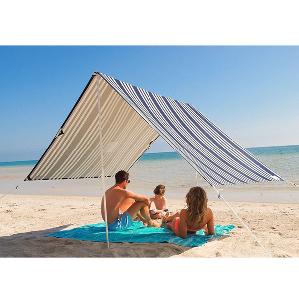 Pop up cotton canvas beach shade tent canopy