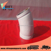 dn125 concrete pump parts elbow for connection of concrete pump pipe or rubber hose