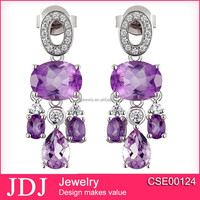 Cheap Crystal Beautiful Stud Dangle Earring For Young Lady