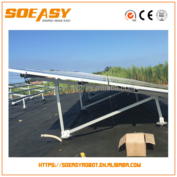 New design ground solar mounting system with solar battery and solar power plant