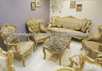 French louis xv royal sofa set