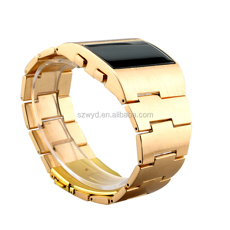 Cool Men Military LED Watches 2015 New Stainless Steel Gold Watches Manufacturer Supplier Exporter